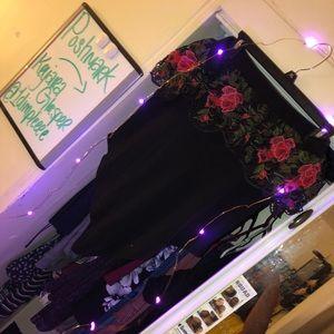 Black rose bodysuit